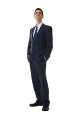 blue suit man