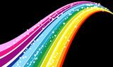 Fototapety rainbow retro