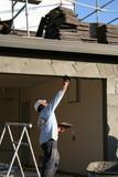 man working,stucco poster
