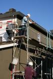 hoisting stucco poster