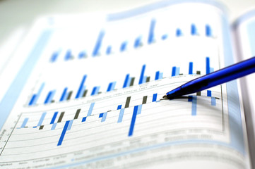 statistic and financial charts