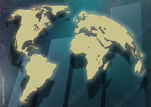 worldmap with chart