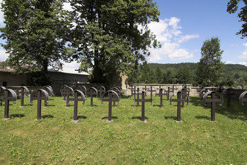 the old military cemetery form first world war -
