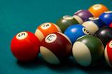 pool balls. shallow dof. poster