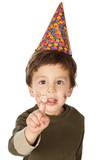adorable kid celebrating his birthday poster