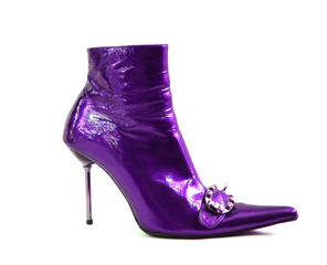 violet woman shoes isolated on white background