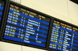 airport flight departure board poster