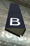 aisle sign in airport poster