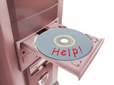 disk help in tray poster