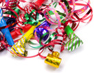 Fototapety party blowers and paper streamers