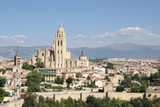 segovia cityscape with cathedral poster