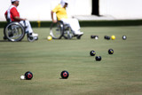 wheel chair lawn bowls for disabled persons (men) poster