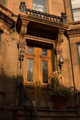 brooklyn brownstone town house door