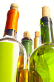 tall wine bottles poster