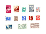 international post stamps collection poster