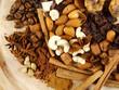 raisins, figs, nuts, coffee and cardamon