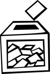 ballot box at election day