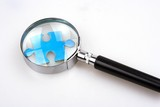 magnifying jigsaw puzzle poster