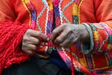 peruvian yarn spinner poster