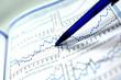 Leinwanddruck Bild - business chart