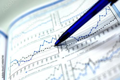 Leinwandbild Motiv business chart