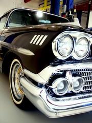 classic black 50s american car