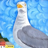 seagull with attitude poster