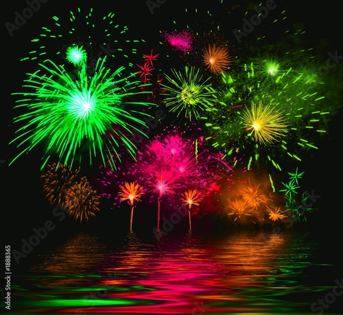 celebratory firework. illustration