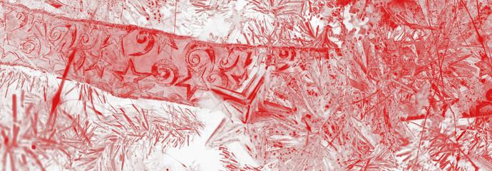 décoration de noël rouge et blanc