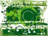abstract greeen composition poster