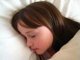 young girl sleeping poster