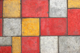 colored paving slab texture #1 poster