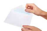 opening envelope poster