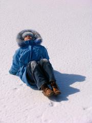 girl on snow