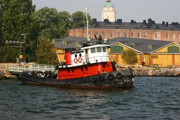 rusty tug boat