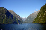 milford sound, south island, new zealand poster