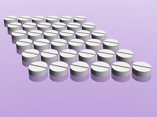 medicine pills. 3d
