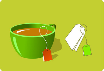 cup of tea and tea bag