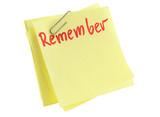 memorize paper sheet poster