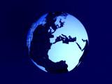 globe earth poster