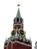 moscow clock tower poster