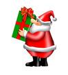 santa bearing a gift