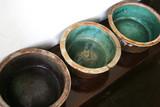 green ceramic pots poster