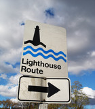 lighthouse route sign poster