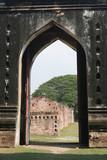 ruins at phra narai rachanivej - famous palace in lopburi, thail poster