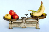 vitamins on weighing-machine poster