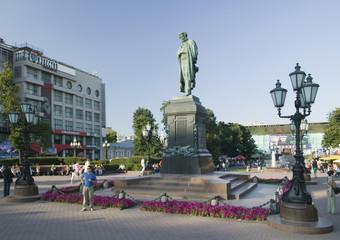 pushkin piazza. pushkin statuesque.