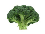 appetizing broccoli on pure white background poster