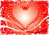 grunge valentines background poster