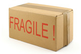 fragile cardboard box poster